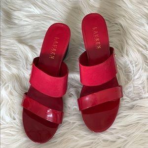 Ralph Lauren red RHIANNA SANDALS